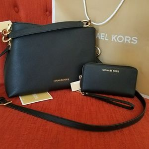 new set wallet and handbag MICHAEL kors Authentic